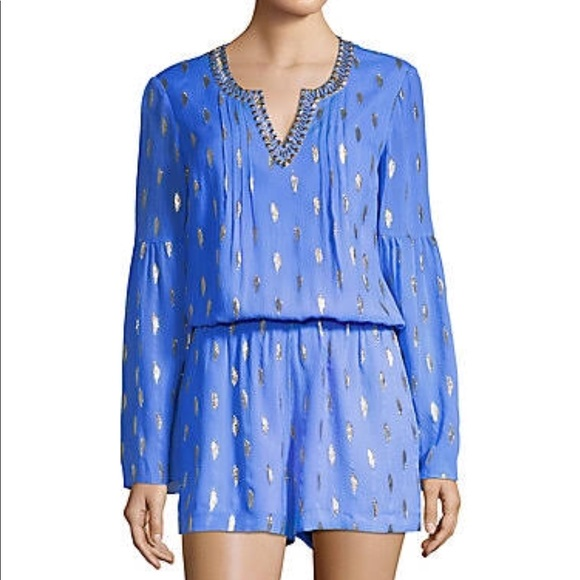 fc3e19d0fa49 Lilly Pulitzer Pants - NWOT Lilly Pulitzer Ariele Silk Romper Size M